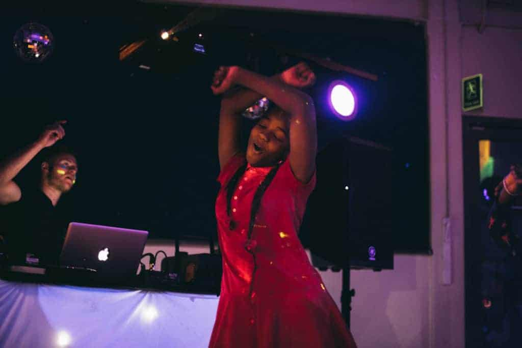 Dancing at a DJ Party