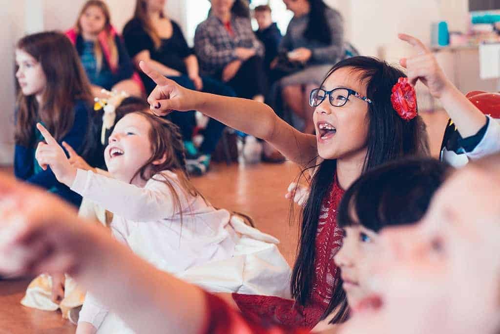 Children at a corporate fun day