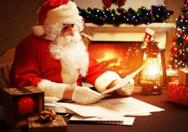 Santa reading a letter