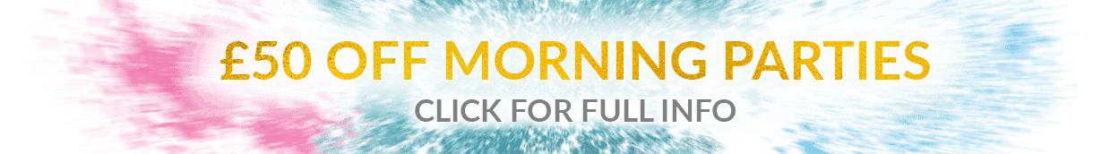 £50 off morning parties banner
