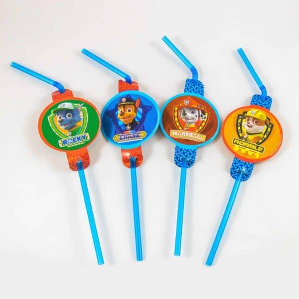 Paw Patrol Straws (10 Pack)