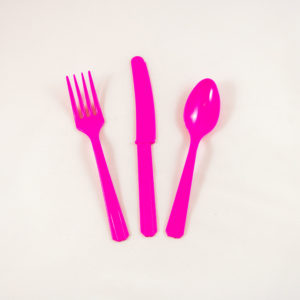 Pink Party Cutlery