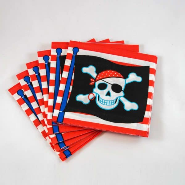 Pirate Napkins (16 Pack)