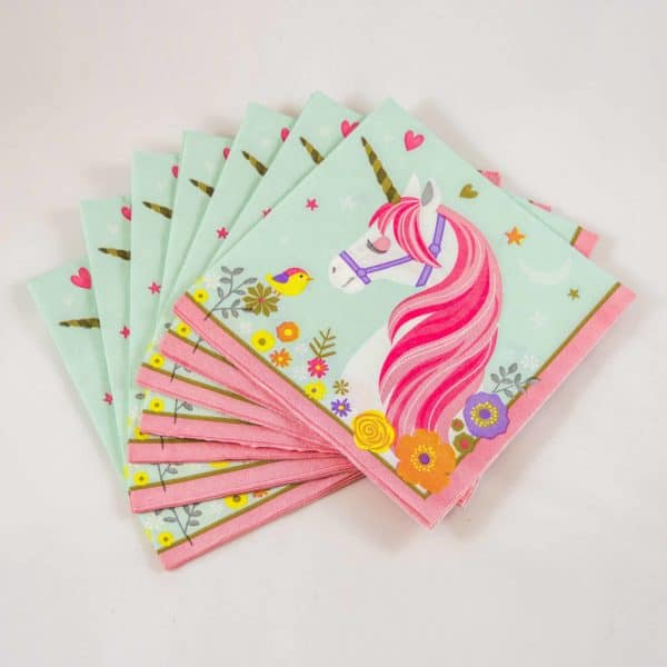 Unicorn Napkins (16 Pack)