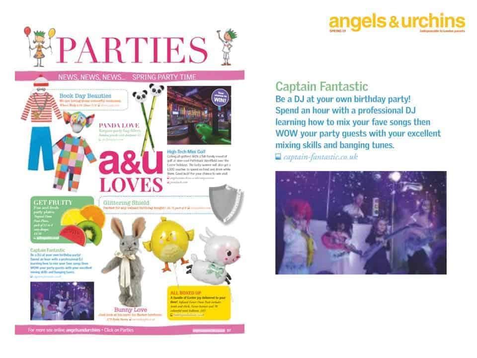 Angels & Urchins - Captain Fantastic Press Coverage