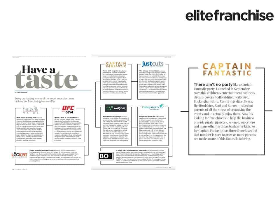 Elite Franchise - Captain Fantastic Press Coverage