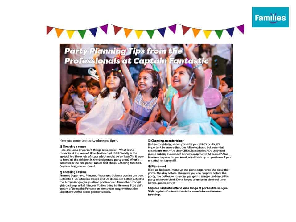 Families Magazine - Captain Fantastic Press Coverage