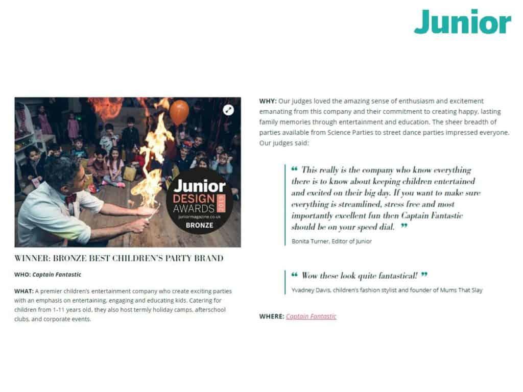Junior Design Awards Winner
