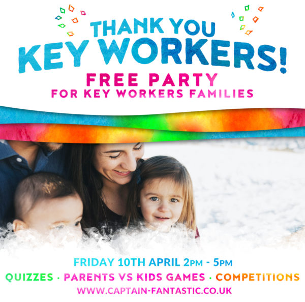 Key Worker Free Party Banner