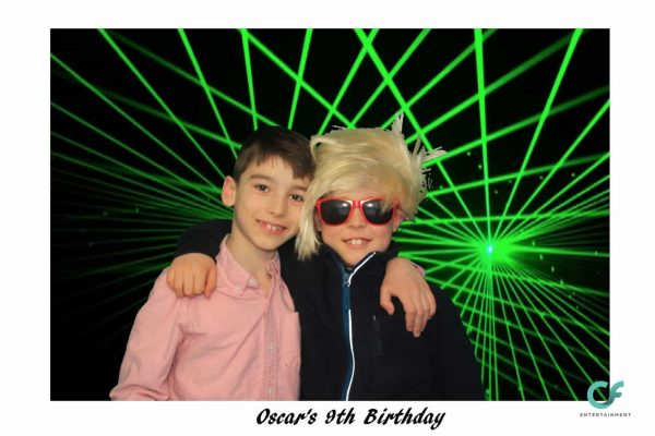Green laser photo booth