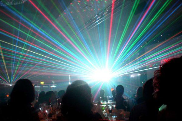 Massive lasers at Mega DJ party