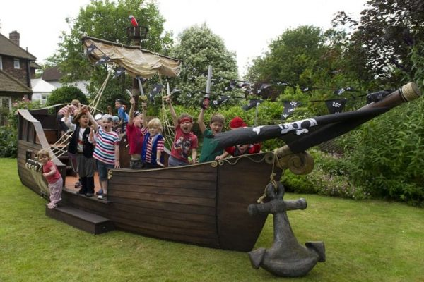 Pirate Ship in Garden